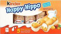 Happy Hippo Milk and Hazelnut Biscuits 5 x (103g) - Produit - en