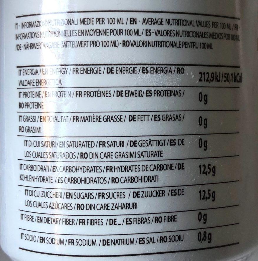 Siesta Caffe - Nutrition facts - fr
