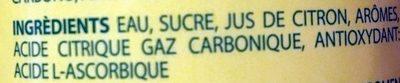 Siesta Lemon - Ingrédients - fr