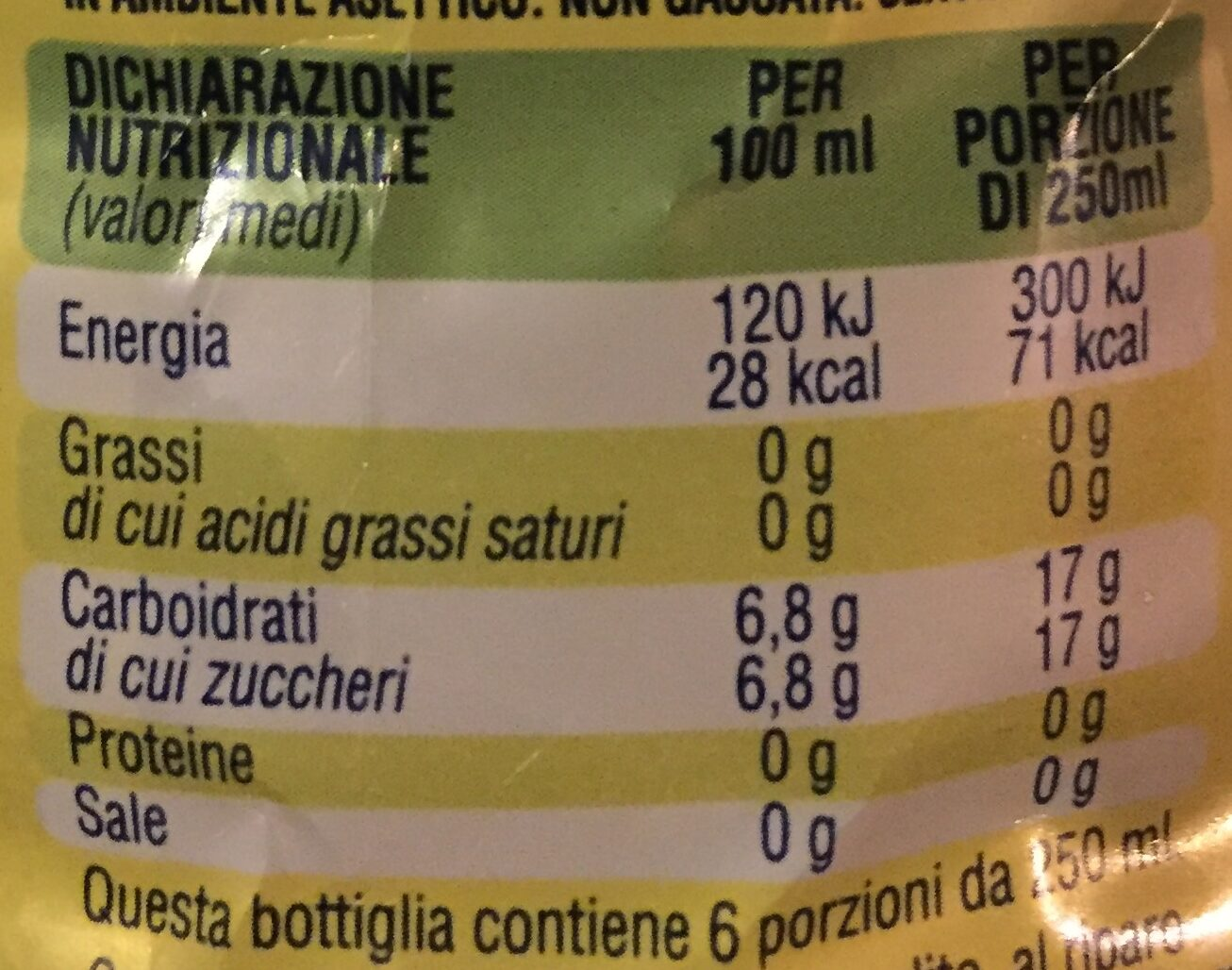 Lemon Tea - Informazioni nutrizionali - it