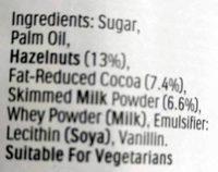 Nutella - Ingredients - en
