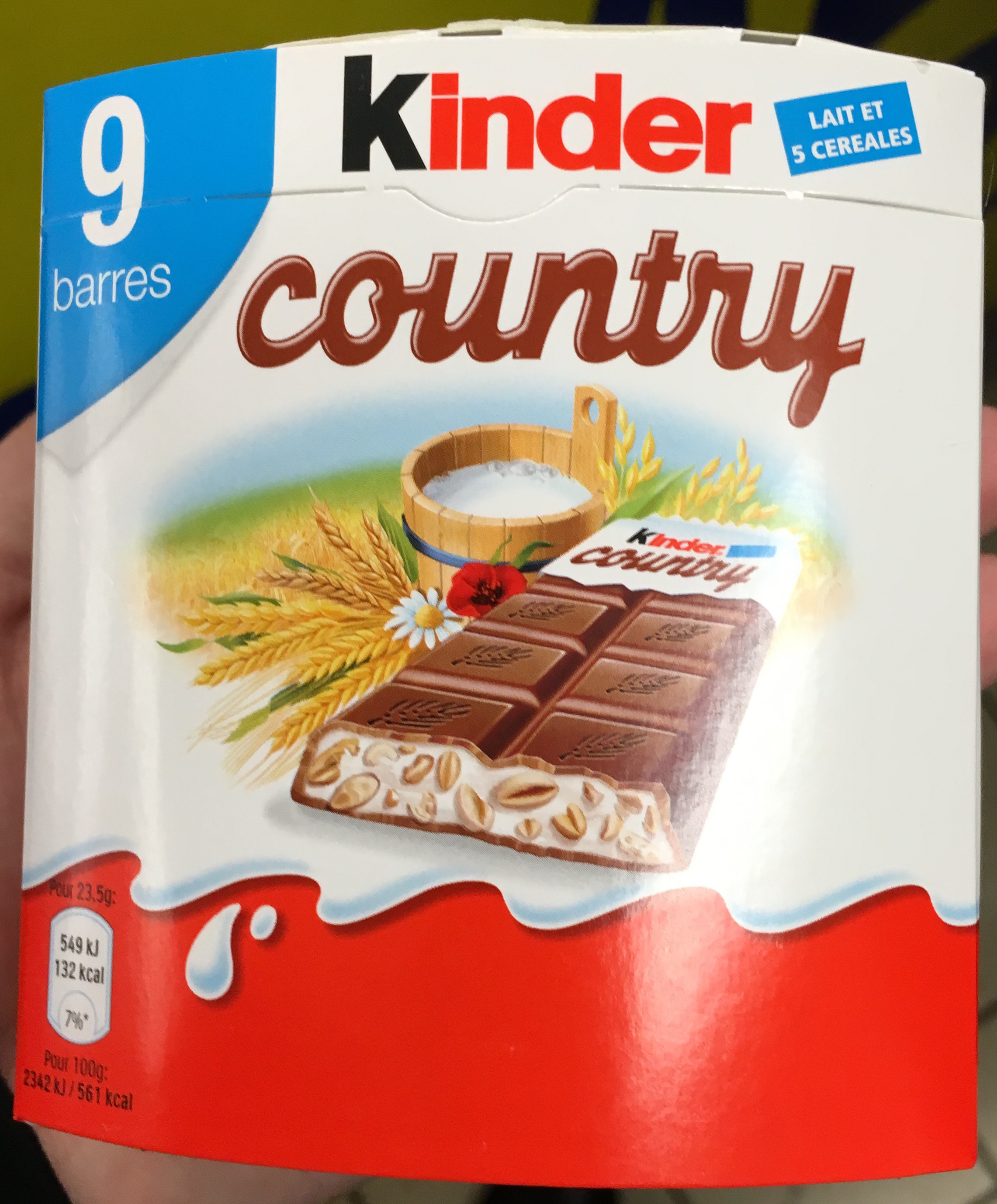 Kinder Country - 9 barres - Produit