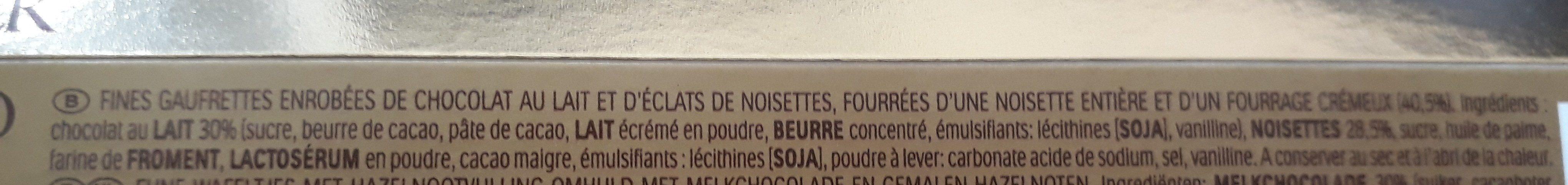 Ferrero Rocher - Ingredienti - fr