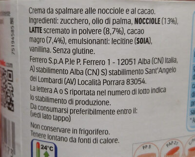 Nutella - Ingredienti - it