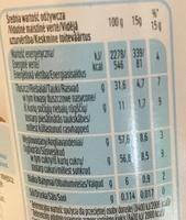 Nutella - Informació nutricional