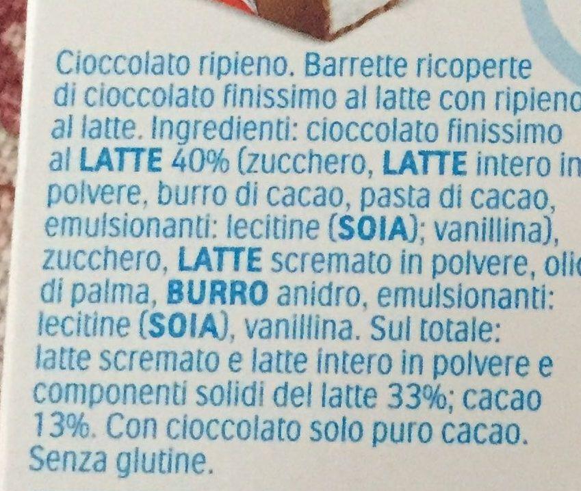 Kinder Cioccolato - Ingredients
