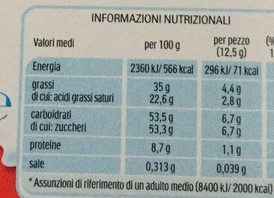 Kinder Cioccolato - Nutrition facts