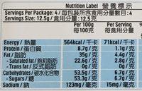 Kinder Chocolat - 营养成分 - zh