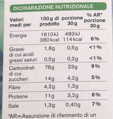 fiocchi di riso e frumento integrale - Nutrition facts - it