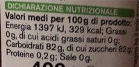 Miele di castagno - Informations nutritionnelles - it