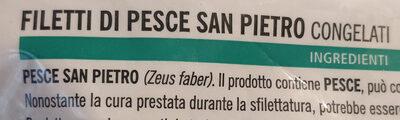 filetti di pesce San Pietro - Ingrediënten - it