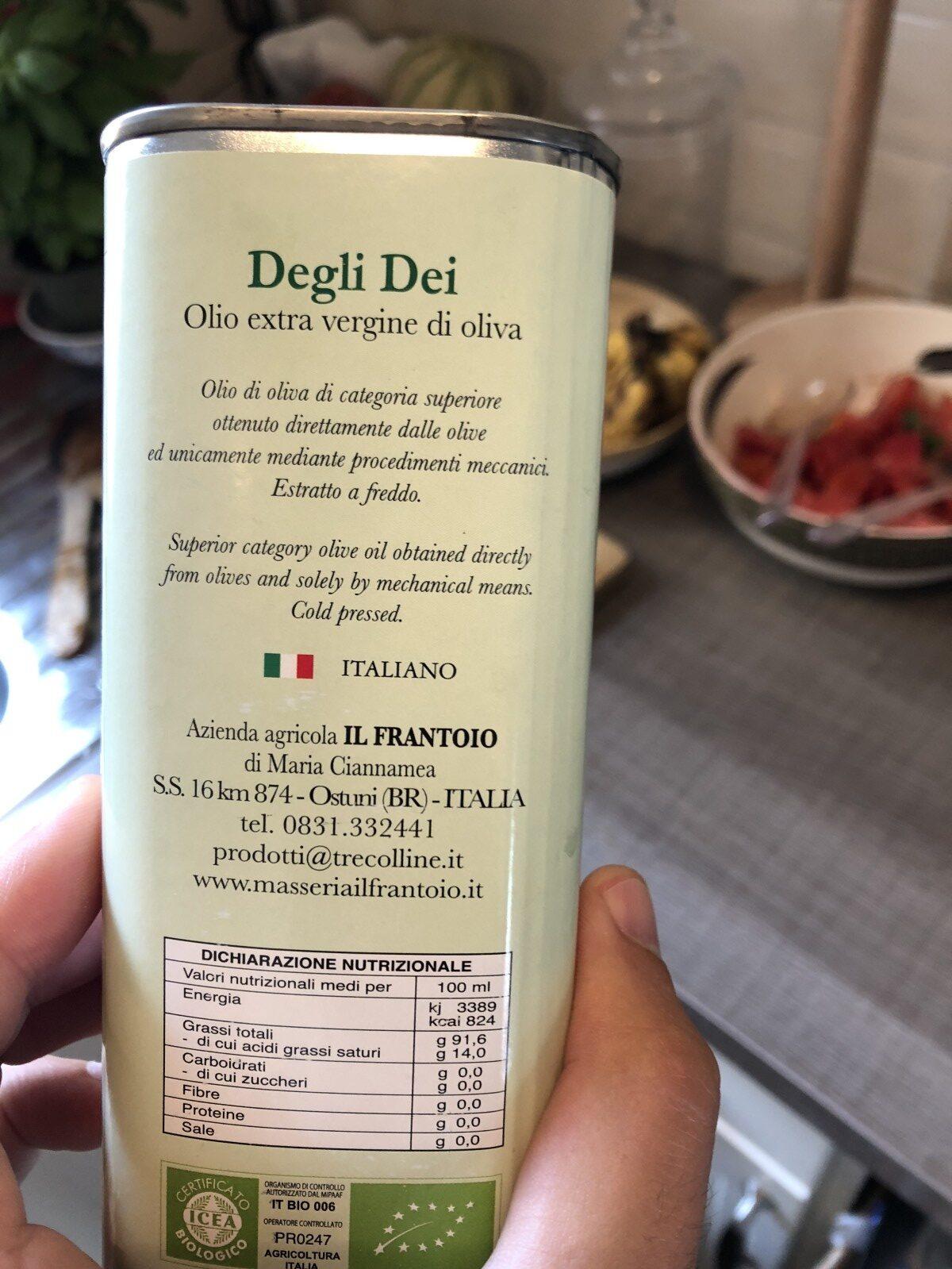 Degli Dei - Ingrediënten