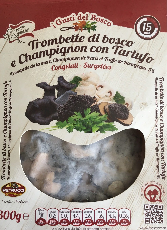 Trombette di bosco e Champignon con Tartufo - Product