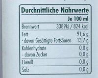 Olivenöl - Valori nutrizionali - de
