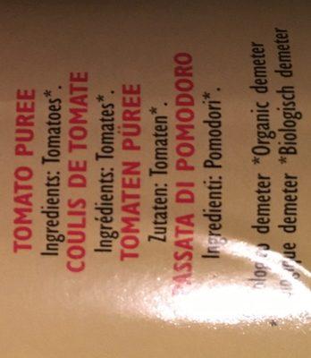Passata di Pomodoro - Ingredients