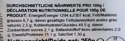 Tortellini prosciutto crudo - Informations nutritionnelles - fr