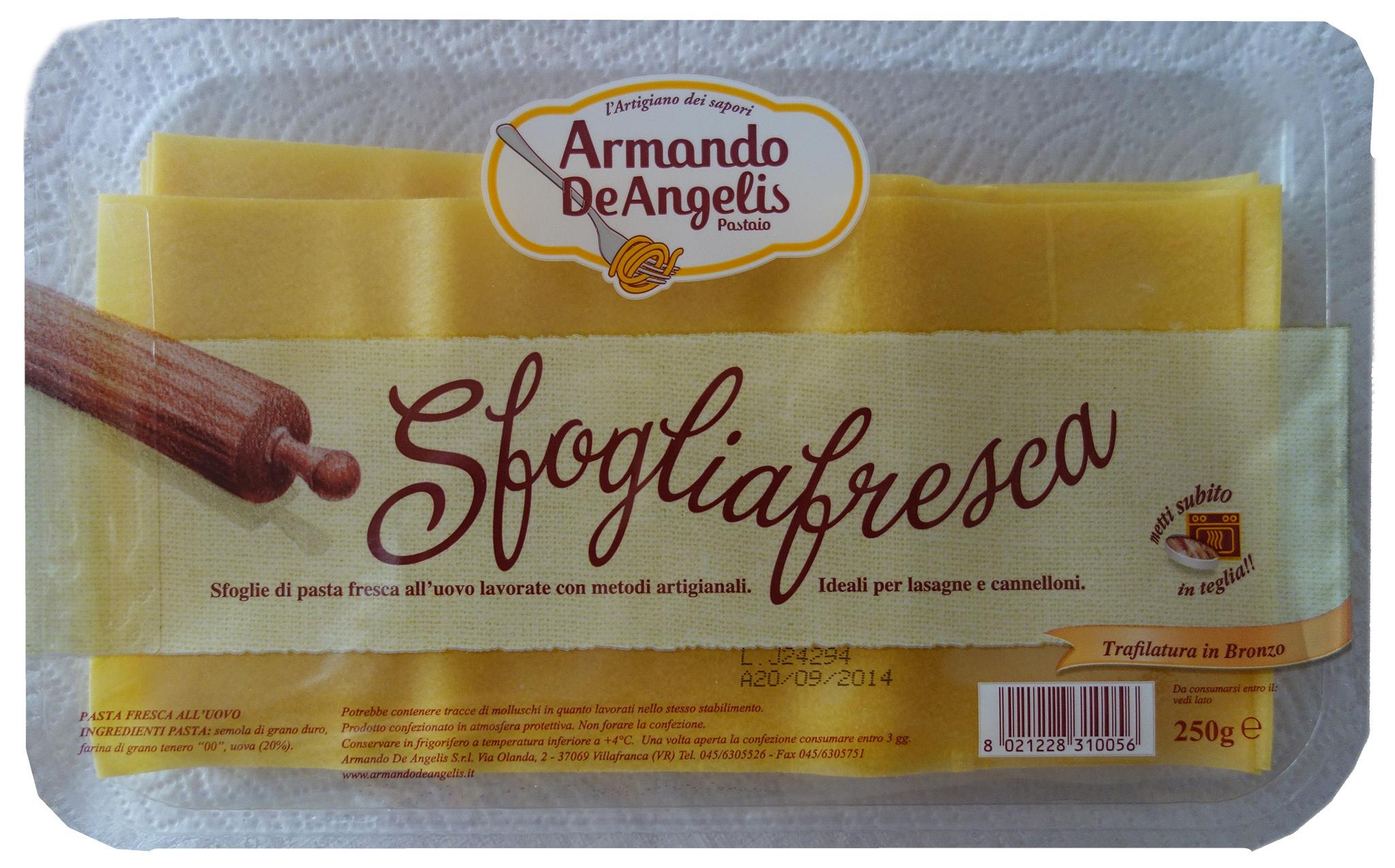 Feuilles de lasagne fraiches - Product