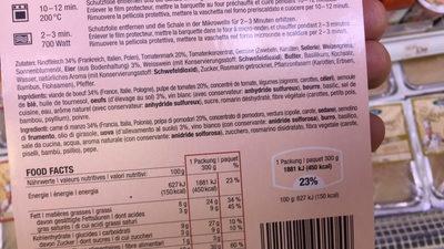 Cannelloni bolognese - Ingrediënten - fr
