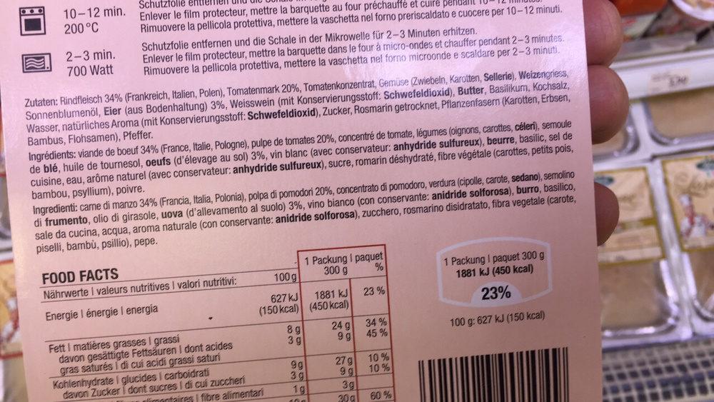 Cannelloni bolognese - Ingrediënten