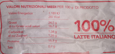 stracchino - Nutrition facts - it