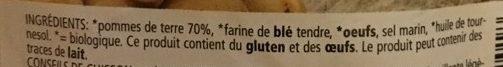 Gnocchi de pommes de terre fraîches aux oeufs - Ingredients - fr