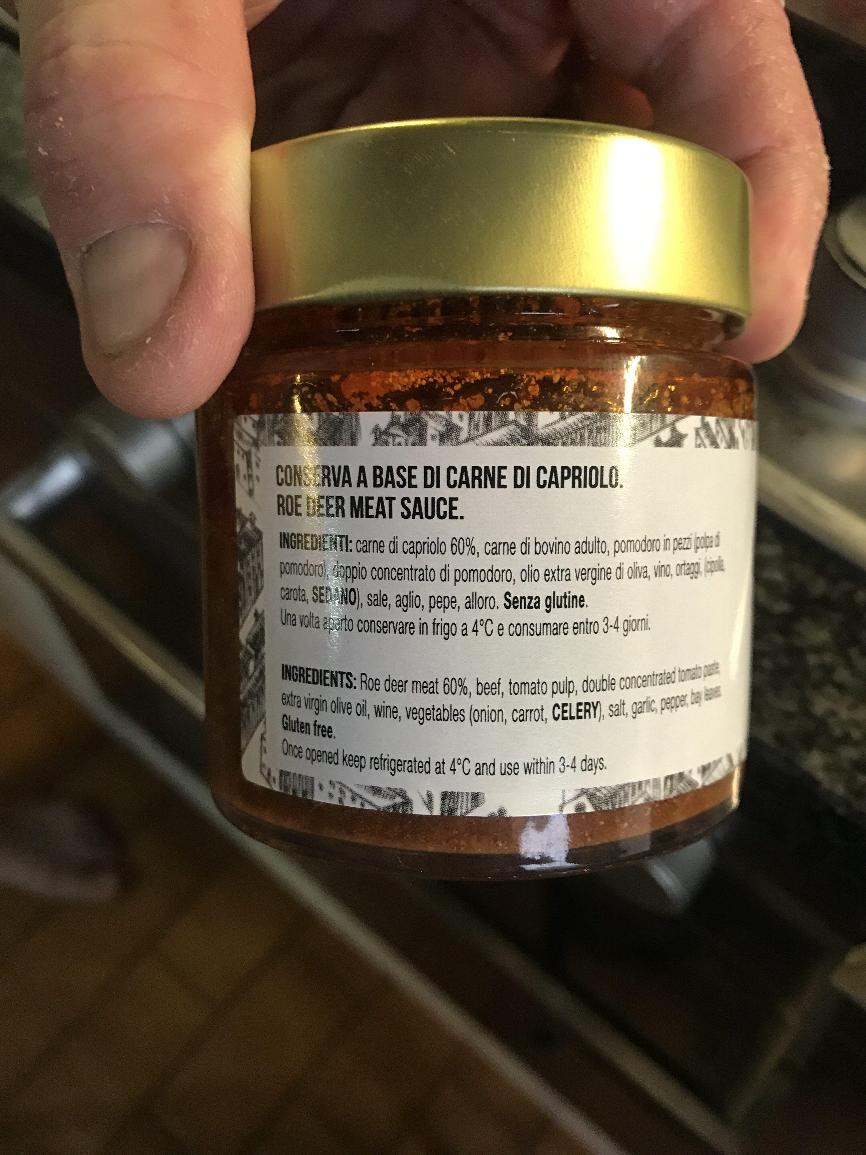 Sugo di capriolo - Ingredienti - en