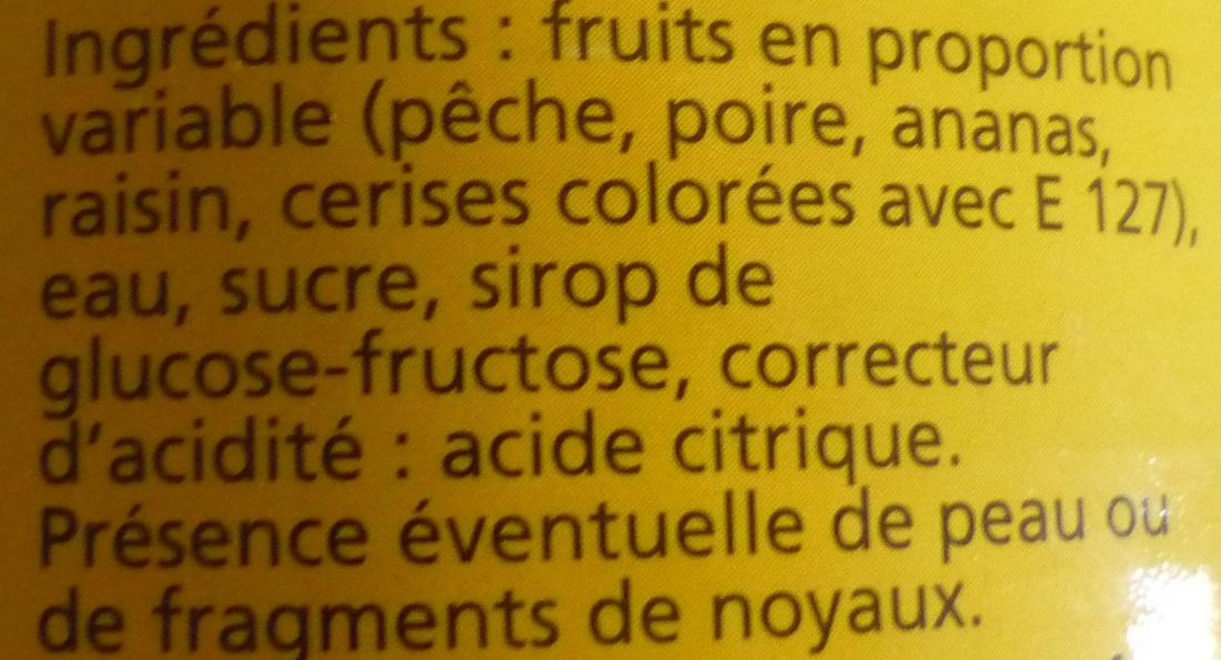 M lange de fruits au sirop l ger sama 820 g - Acide citrique leclerc ...