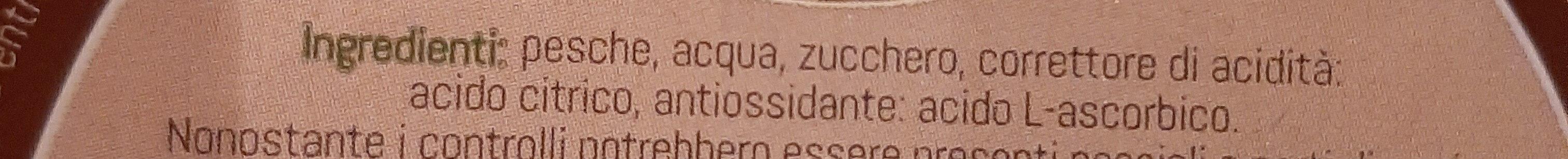 Pesche - Ingrédients - it