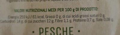 Pesche - Informations nutritionnelles - it