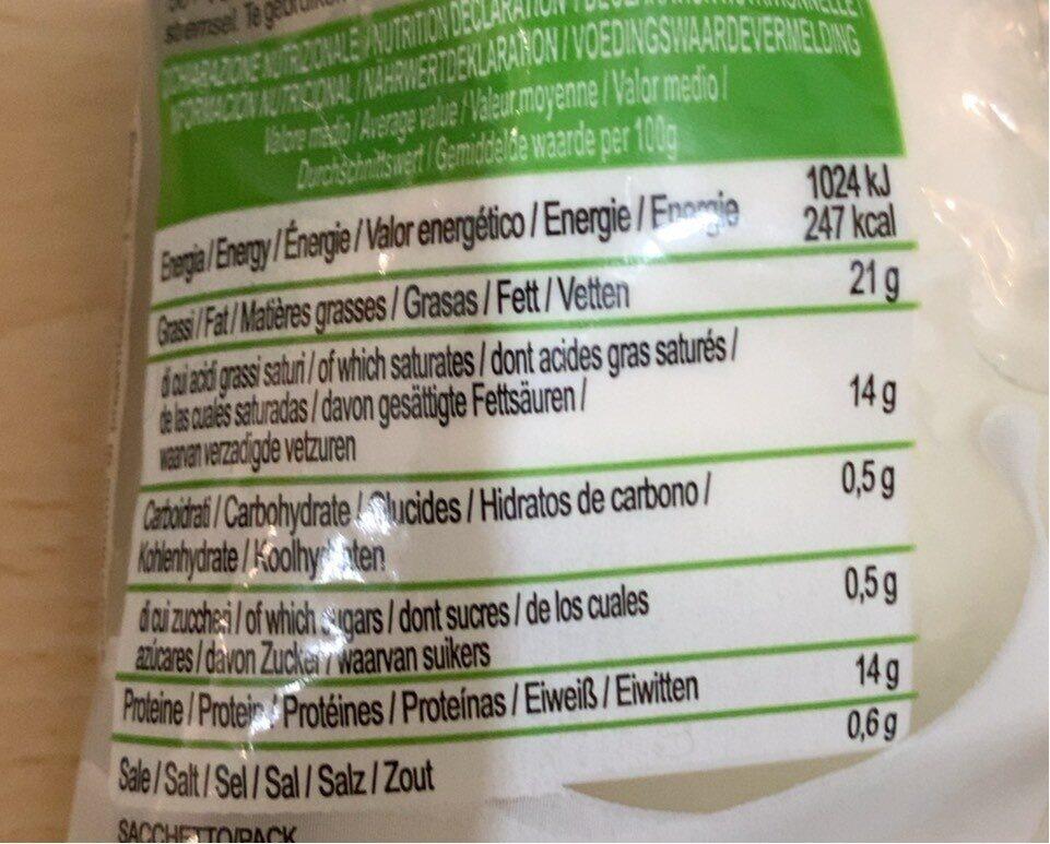 Mozzarella Di Bufala Ciuffo 250GR Campa - Voedingswaarden - fr