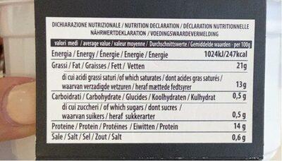 Tartufina mozzarella - Nutrition facts - fr