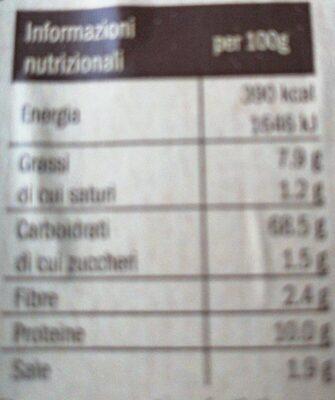 Grissini rubata - Informations nutritionnelles - fr