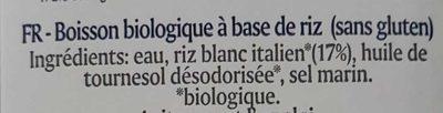 Boisson Riz Premium - Ingredientes