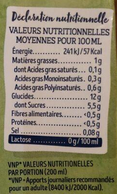 Boisson de riz - Informations nutritionnelles - fr