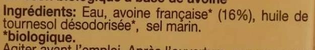 Lait avoine original - Ingredients - fr