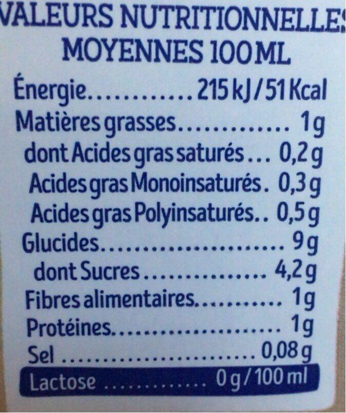 Lait avoine original - Nutrition facts - fr