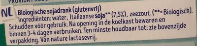 Soy milk - Ingrediënten - nl