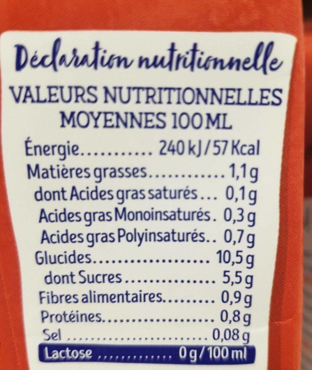 Lait épeautre - Información nutricional - fr