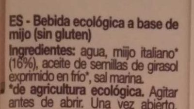 Millet - Ingredientes - es