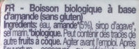 Almendra - Ingrédients - fr