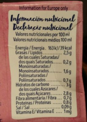 Almendra - Voedingswaarden - en