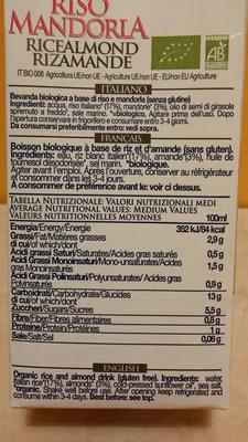 Riso Mandorla - Ingrediënten - fr