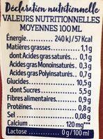 Lait Epeautre   calcium - Informations nutritionnelles - fr