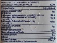 Avoine + Calcium - Nutrition facts