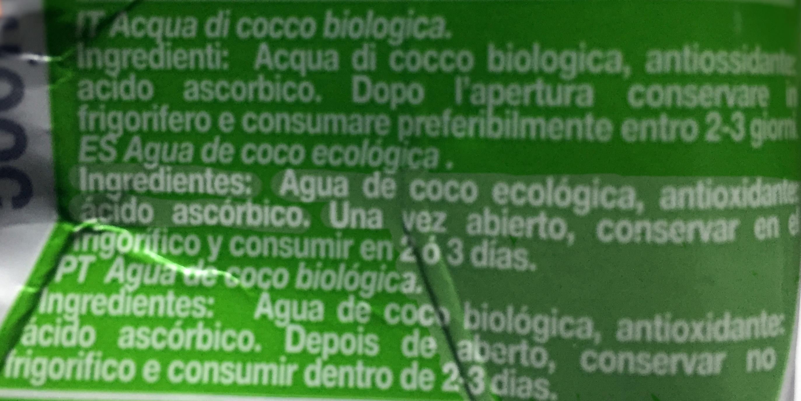 Original Coco - Ingredientes