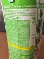 Original Coco - Información nutricional