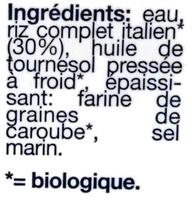 Cuisine riz - Ingredients