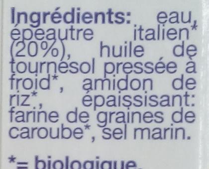 Cuisine épeautre - Ingredients - fr