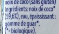Coco cuisine - Ingrediënten - fr