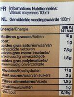 Creme Avoine Cuisine - Nutrition facts - es